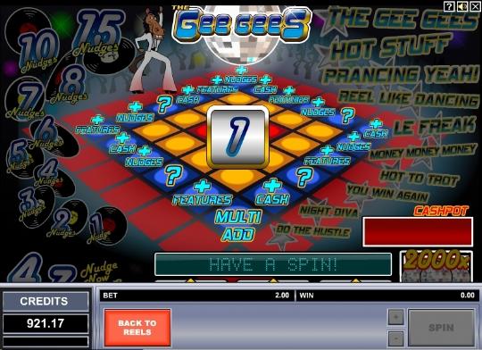 Танцевальный слот The Gee Gees в казино Вулкан Москва